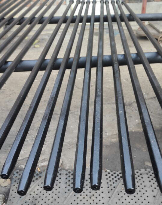 Mining Rock Hexagonal Hollow Steel Tapered Drill Rod 11 Degree 610mm-8000mm Length